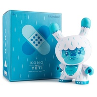 Kidrobot Kono The Yeti Ice Blue Dunny 8-Inch Art Figure by Squink
