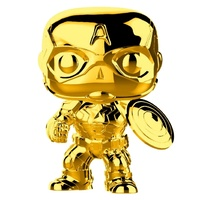 Funko Pop! Vinyl Marvel Studios 10th Anniversary Captain America Gold Chrome