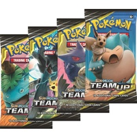 Pokemon TCG Sun and Moon Team Up. 4 Booster Packs!