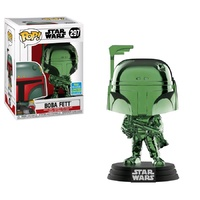 SDCC 2019 Funko Pop! Vinyl Star Wars Boba Fett Green Chrome. Exclusive