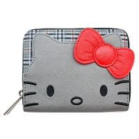 Loungefly Hello Kitty Grey Plaid Zip-Around Wallet