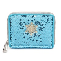 Loungefly Disney Frozen Elsa Reversible Sequin Zip-Around Wallet