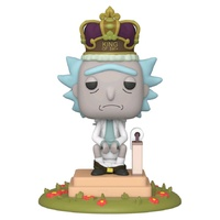 Funko Pop! Vinyl Rick and Morty Rick King of S#!+ with Sound. 6-Inch