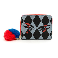 Loungefly DC Comics Birds of Prey Harley Eyes Zip-Around Wallet