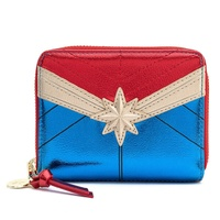 Loungefly Marvel Captain Marvel Classic Metallic Zip Around Wallet