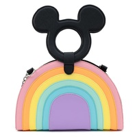 Loungefly Disney Mickey Mouse Pastel Rainbow Handle Crossbody Bag