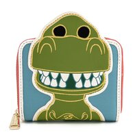 Loungefly Disney Pixar Toy Story 25th Anniversary Rex Zip Around Wallet