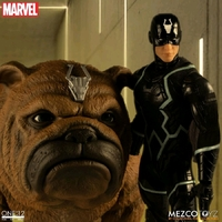 Mezco Toyz One:12 Collective Marvel The Inhumans Black Bolt and Lockjaw Action Figure Set