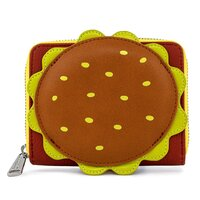 Loungefly Nickelodeon SpongeBob SquarePants Plankton Krabby Patty Zip Around Wallet