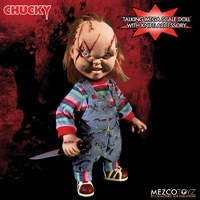 Mezco Toyz Child's Play. Talking Scarred Chucky 15-Inch Doll