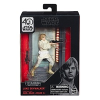 Hasbro Star Wars The Black Series 40th Anniversary Titanium Series Luke Skywalker