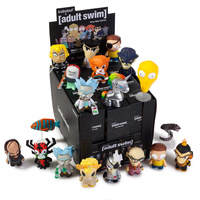 Kidrobot. Adult Swim Mini Series Display Case Of 24 Blind Box Mini Figures. Rick and Morty. Robot Chicken.