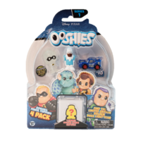 Ooshies Disney Pixar Series 1. 4 Pack. Glow In The Dark Mrs Incredible, Frozone