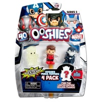 Ooshies Marvel Series 2. 4 Pack Glow In The Dark Thor, Wasp Red, Iron Man