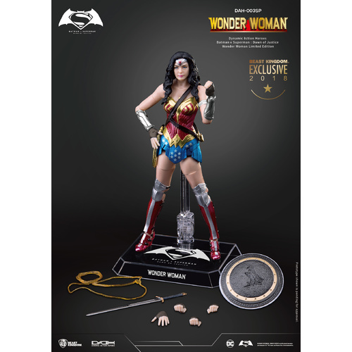 SDCC 2018 Beast Kingdom Dynamic 8ction Heroes DAH-002SP Batman V Superman Dawn Of Justice Wonder Woman Comic Colour Exclusive