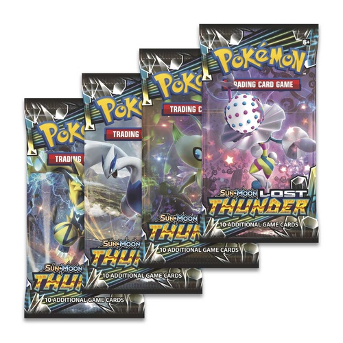 Pokemon TCG Sun and Moon Lost Thunder. 4 Booster Packs!