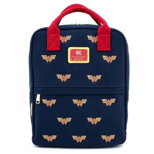 Loungefly DC Comics Wonder Woman Logo Embroidered Mini Backpack