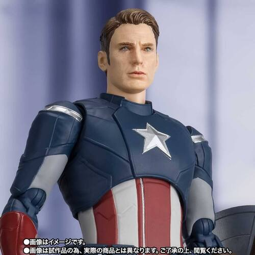 Bandai Tamashii Nations S.H. Figuarts Marvel Avengers Endgame Captain America (Cap VS Cap) Action Figure