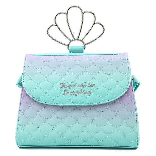 Loungefly The Little Mermaid Ombre Scales Shell Crossbody Bag